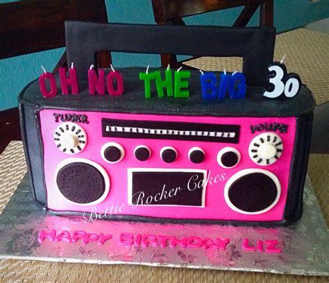 boom box boombox radio   birthday cake