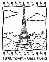 Tower Eiffel Coloring Pages France Crayola Printable French Paris Drawing Easy Sheets Colouring Flag Printables Revolution Landmarks Famous Number Sheet sketch template