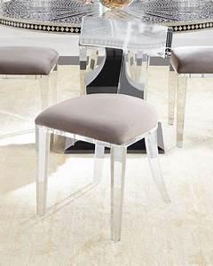 Bernhardt Vivian Inlay Dining Table Nessy Acrylic Dining
