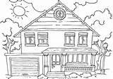 Garage Coloring Pages Garage9 Building sketch template