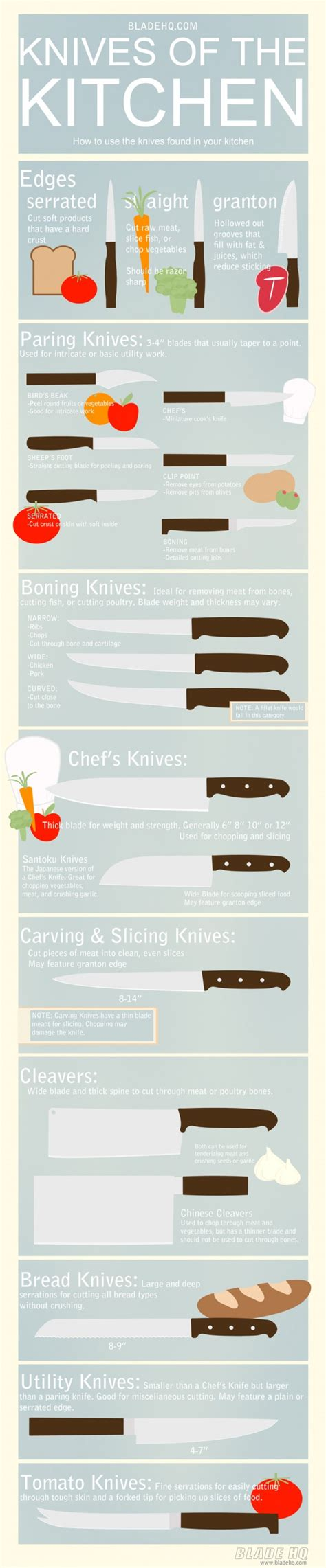 kitchen knives guide 14 infographics to help organize your kitchen visually