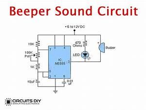 Simple Beeper Sound Circuit Using Ic Ne555