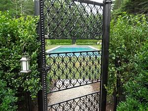 Garden Gates Decorative Wrought Iron Aluminum Custom Gate
