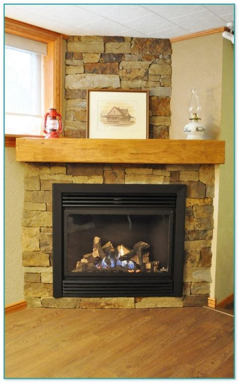 decorating  stone fireplace mantel