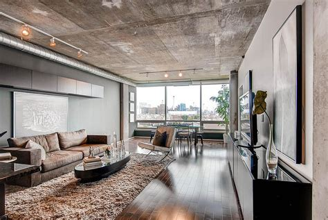 wall decor for living room 10 contemporary rooms with concrete ceiling
