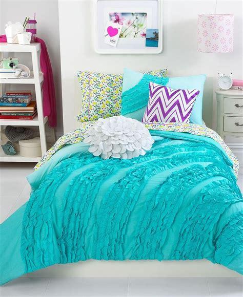 teen vogue bedding ella teal ruffle comforter sets teen