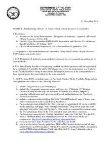 Army Standard Operating Procedure SOP Template