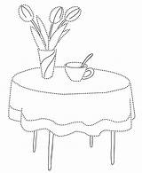Coloring Furniture Pages Dining Canada sketch template