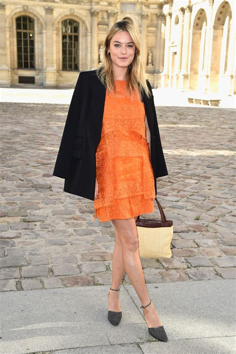 camille rowe  christian dior  dressed front row