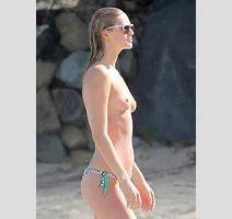 Toni Garrn Topless Bikini Photoshoot On A Beach In St Barts Hole Tube