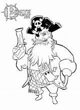 Pirate Coloring Pirate101 sketch template