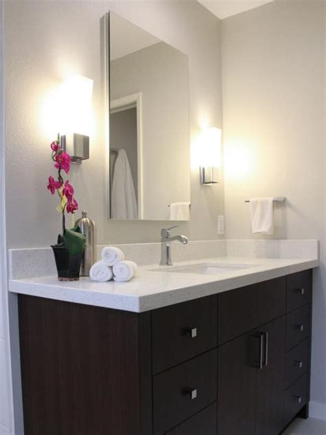 hgtv presents  dark brown bath vanity  quartz