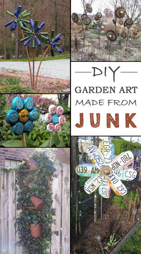 ideas   create unique garden art  junk