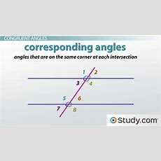 Angles Formed By A Transversal  Video & Lesson Transcript Studycom