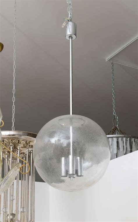 vintage glass pendant globe light fixture at 1stdibs