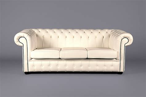 white chesterfield sofa three seater leather chesterfield white sofas