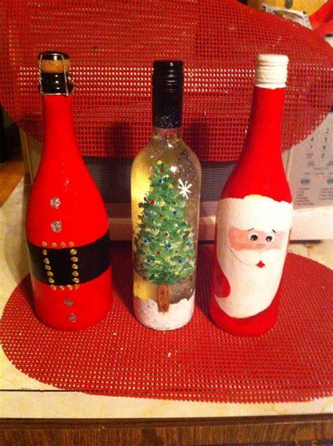 decoradas para navidad botellas las decoradas toda ocacion wine craft diy