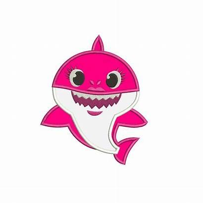 Shark Mommy Applique