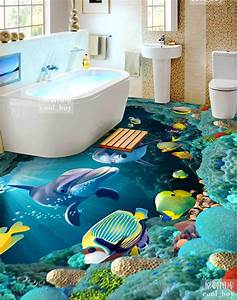 3D bathroom floor designs for vibrant look