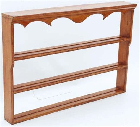 wooden wall mounted plate display rack woodworking