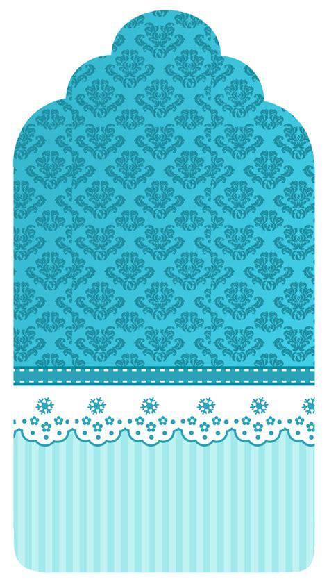 foto de Diseño Turquesa Printable Arabesco azul Enfeites de