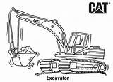 Coloring Caterpillar Cat Excavator Printable Ausmalbilder Machines Colouring Machine Loader Excavators Truck Bagger Backhoe Kinder Skid Printables Birthday Drawing Mini sketch template