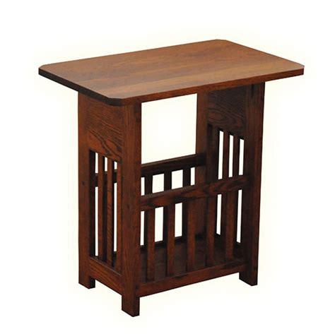 magazine rack table l four seasons furnishings amish made furniture solid wood