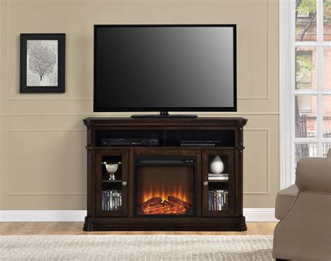 Dorel Home Furnishings Brooklyn Fireplace Tv Stand