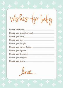 free baby shower games printouts activity shelter With wishes for baby template printable