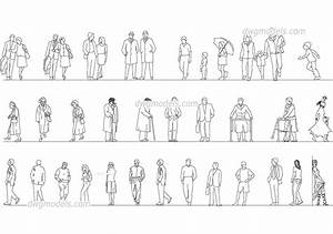 People of different ages DWG, free CAD Blocks download