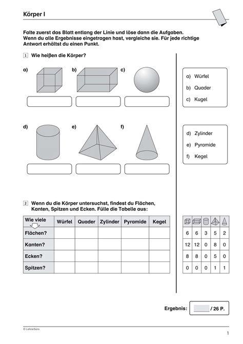 grundschule unterrichtsmaterial mathematik geometrie