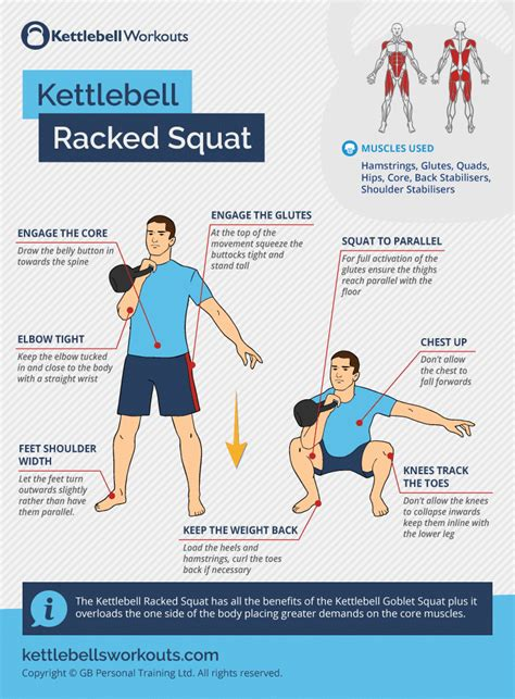 kettlebell squat goblet racked squats muscles exercise benefits side kettlebellsworkouts training core teaching points form challenge workout deadlift perform overloads