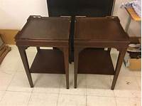 vintage end table Pair vintage square mahogany end tables | eBay