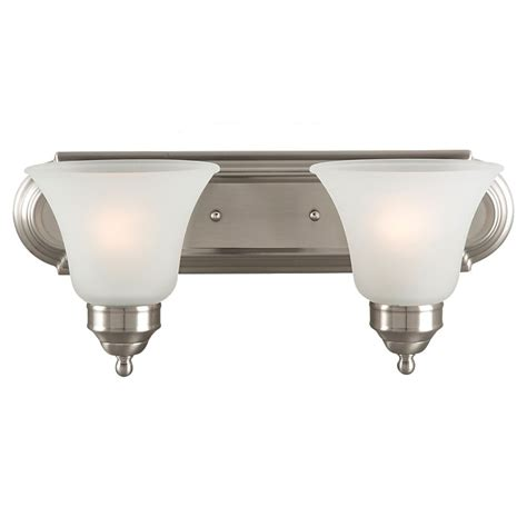Brushed Nickel Bathroom Light Fixtures by Sea Gull Lighting 44236 962 2 Light Brushed Nickel