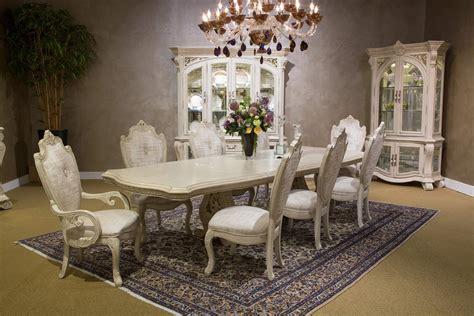aico villa di como rectangular dining set in moonlight finish