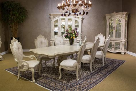 Aico Villa Di Como Rectangular Dining Set In Moonlight Finish