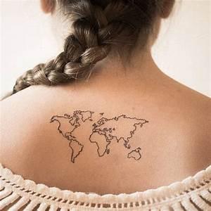 World map // tattoo | :: Work of Art :: | Pinterest | Map ...