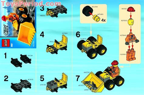 lego  mini bulldozer set parts inventory  instructions lego reference guide