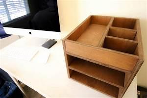 How, To, Make, A, Wood, Desk, Organizer