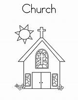 Church Coloring Pages Building Sunday Drawing Outline Printable Bell Buildings Tower Sheets Blocks Empire State Apartment Getcolorings Pray Pa Place sketch template