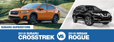 Compare 2018 Subaru Crosstrek Vs Nissan Rogue