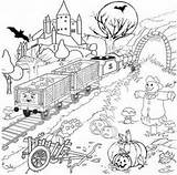 Coloring Thomas Halloween Train Plantation Template Ausmalbilder James Printable Kostenlose sketch template
