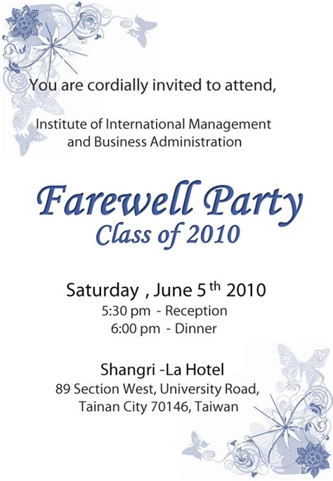 Farewell Party Invitation  Oxsvitationcom. Free College Diploma Template. Black T Shirt Template. Reading A Graduated Cylinder Worksheet. High School Graduation Gifts For Her. Free Church Revival Flyer Template. Money For Graduate School. Graduate Nurse Jobs Dallas. Product Roadmap Template Powerpoint