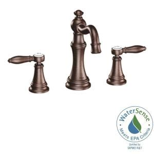 Moen Weymouth Kitchen Faucet Home Depot by Moen Weymouth 8 In Widespread 2 Handle High Arc Bathroom