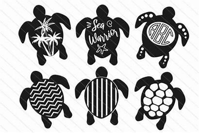 Turtle Svg Silhouette Monogram Turtles Clipart Vector
