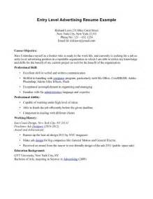 Objective Exles For Resume For Waitress by Resume Objective Exles Entry Level For Waitress Resume Format