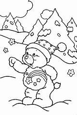 Winter Coloring Season Nature Printable Drawing Kb sketch template