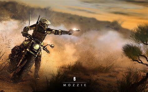 mozzie rainbow  siege   wallpaper