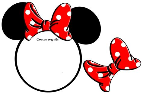 Free Printable Minnie Mouse Bow Template by Free Printable Minnie Mouse Invitation Template