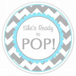 baby shower ready to pop labels gray and blue by With ready to pop stickers template